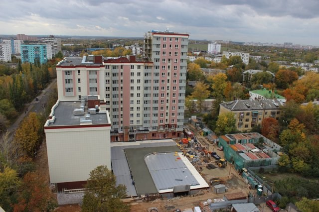 Ход строительства ЖК Ленинградская Перспектива. 2 очередь.